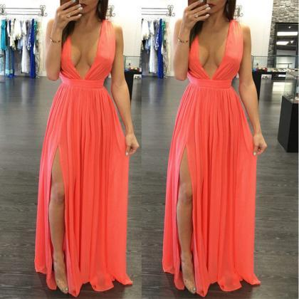 Sexy Body con Long Chiffon Dress