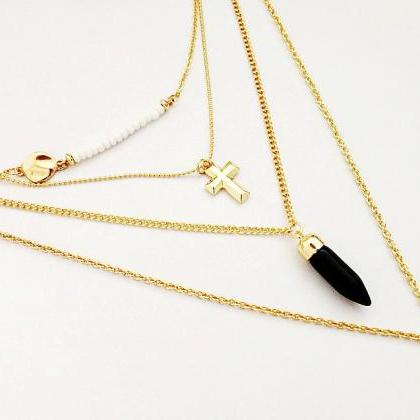 Tassel Gold Layered Necklace