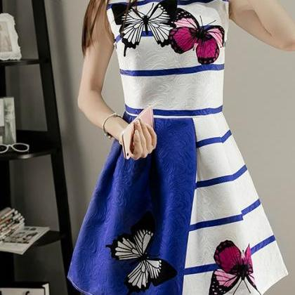 Elegant Sleeveless A Line Summer Dr..