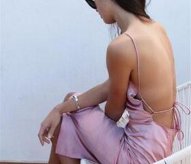 Sleeveless pink Lace..