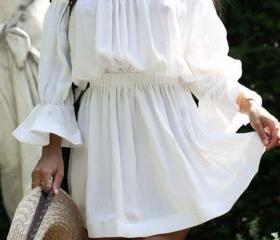 Off Shoulder White F..
