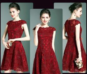 Red Embroidery Lace ..