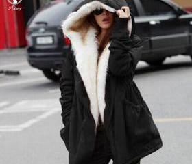 Warm Faux Fur Hooded..