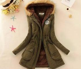Hooded Warm Winter C..