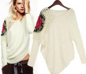 V Neck Long Sleeve W..