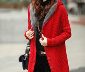 Long Sleeve Red Cott..