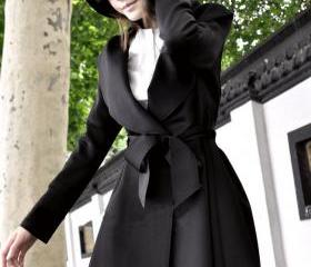 Black Hooded Trench ..
