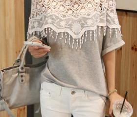 Cute Grey Top with B..