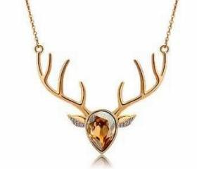 Crystal Deer Neckla..