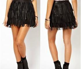 Solid Black Tassel D..