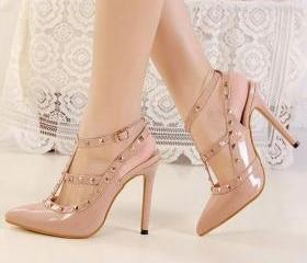 Nude Studded Pointed..