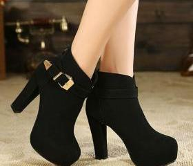 Stylish Black Suede ..