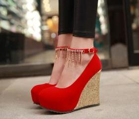 Red Rhinestone Embel..