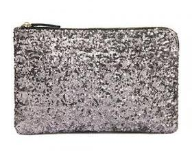 Silver Sequined Wris..
