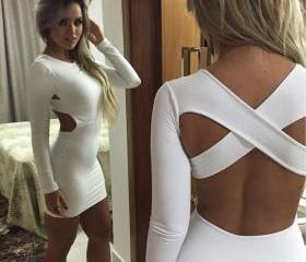 Sexy Cross Back Whit..