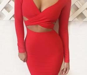 Sexy Red Cut Out Des..