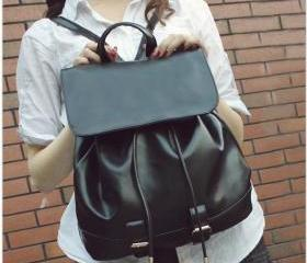 Cute Black PU Leathe..