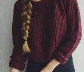 Wine Red Knitted Pul..