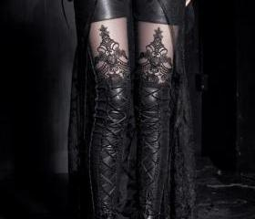 Black Lace up Leggin..