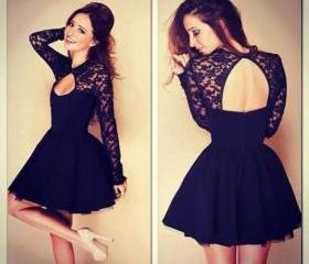 Sexy Black Lace Dres..