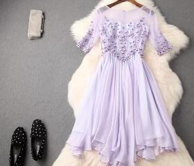 Lavender Beaded Lace..