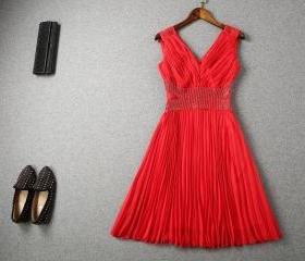Red Lace and Chiffon..