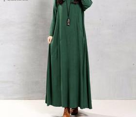 Women Retro Long Sle..