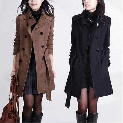 Warm Double Breasted Winter Trench Coat