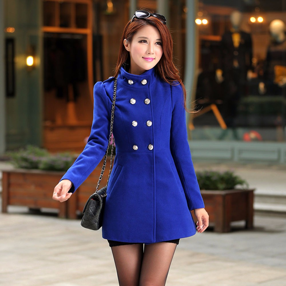 Chic Double Breasted Women's Winter Coat