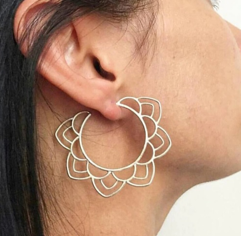 Ethnic Tribal Gold and Silver Earrings