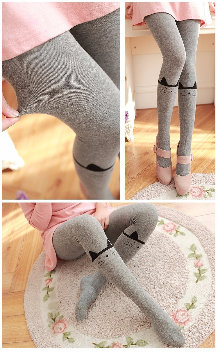 Cute Cat Autumn and Winter Leggings Tights