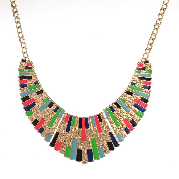 Colorful Egyptian Inspired Statement Necklace