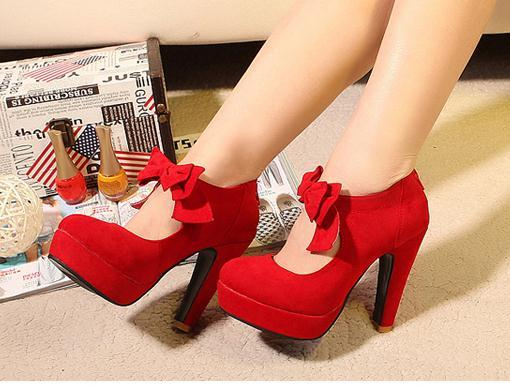 25bf3a57516 Cute Bow Knot High Heels Fashion Shoes on Luulla