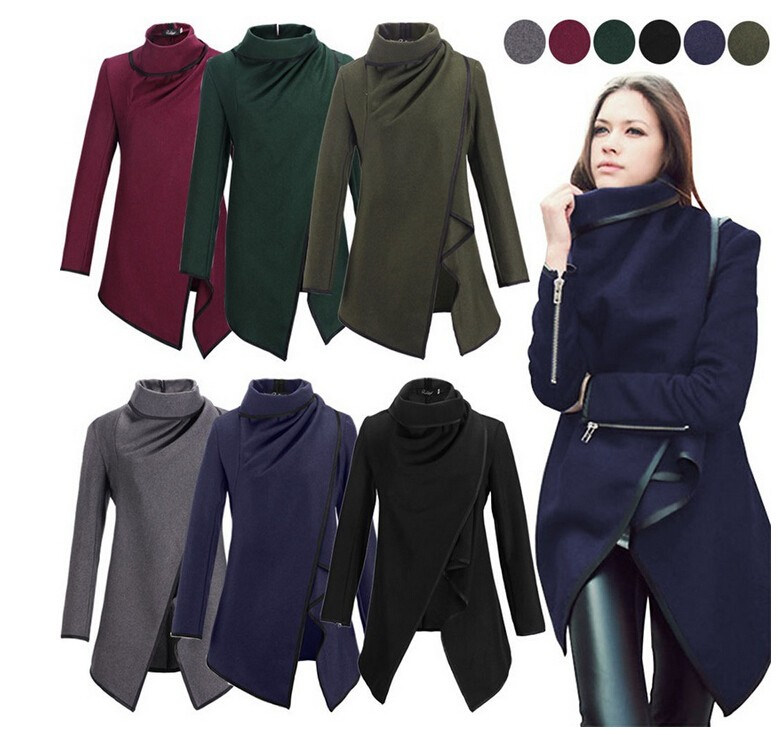 Stylish Irregular Hem Coat for Women