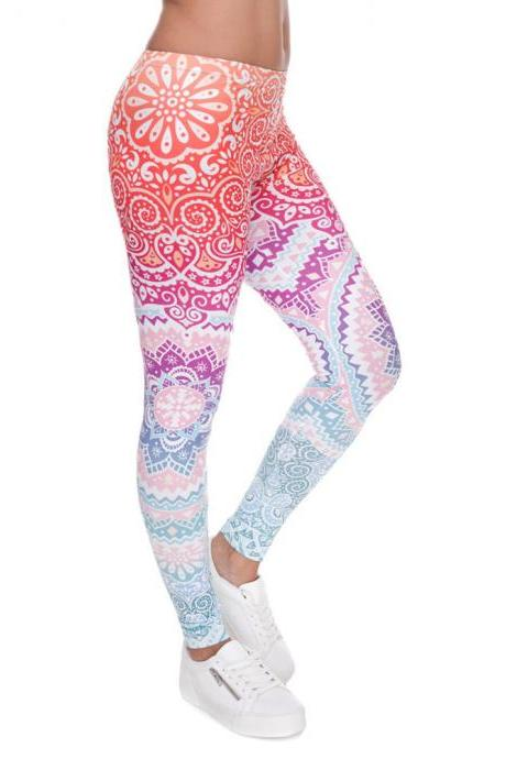 Aztec Printed Form Fitting Leggings