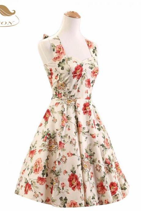 Floral Vintage and Retro Summer Dress