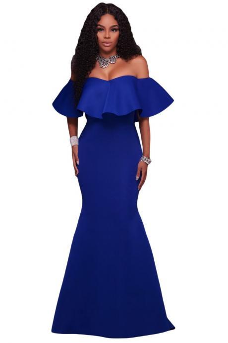 Gorgeous Off Shoulder Mermaid Long Party Dresses
