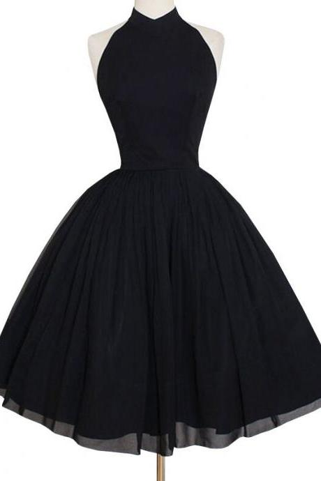 Black Empire Waist Ball Gown Party Dress