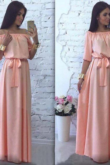Beautiful Off Shoulder Long Maxi Dress