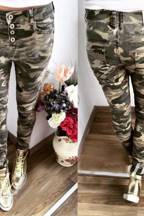 Ladies Casual Stretch Skinny Leggings Pencil Pants