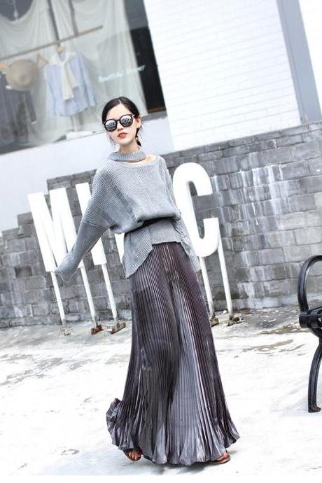 Gorgeous Flare Pleated Long Skirts
