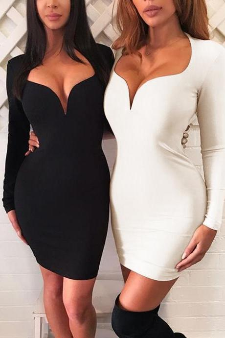 Long Sleeve Sexy Bodycon Party Dresses