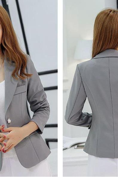 Chic Gray Blazer Jacket
