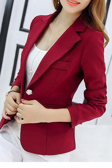 Burgundy Blazer Coat