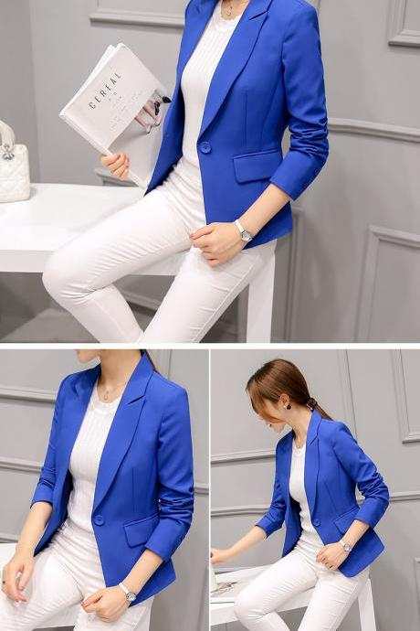 Elegant Blue Blazer Coat