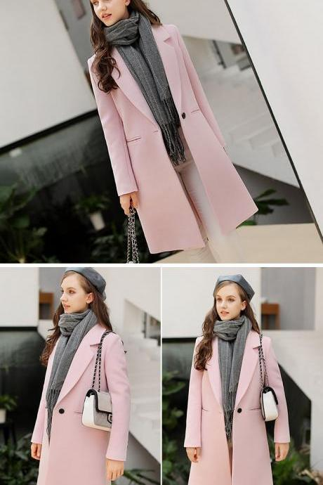 Beautiful Pink Warm Winter Coat
