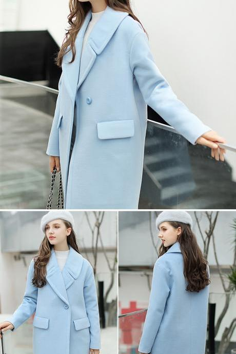 Gorgeous Women's Winter Coat in Sky Blue