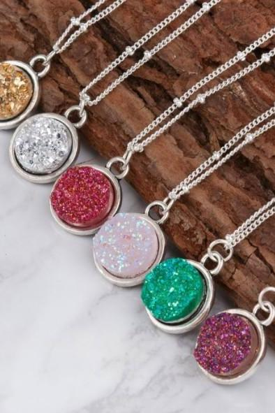 Gorgeous Druzy Crystal Chain Necklaces