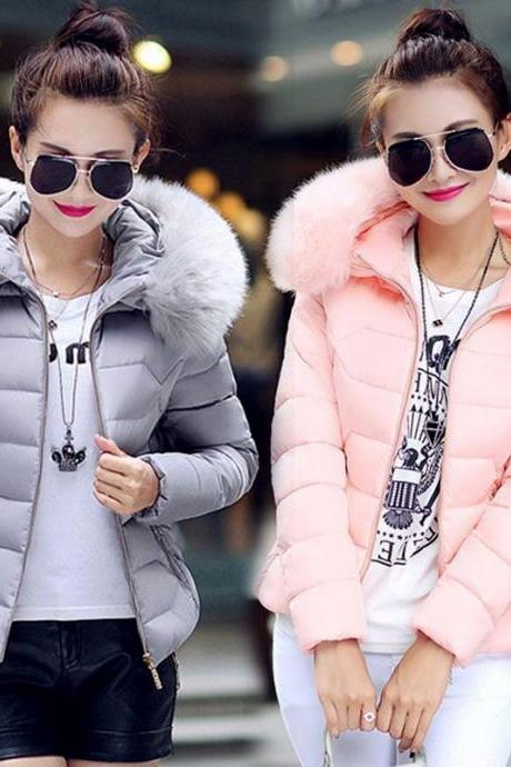 Padded Faux Fur Parka Winter Coat