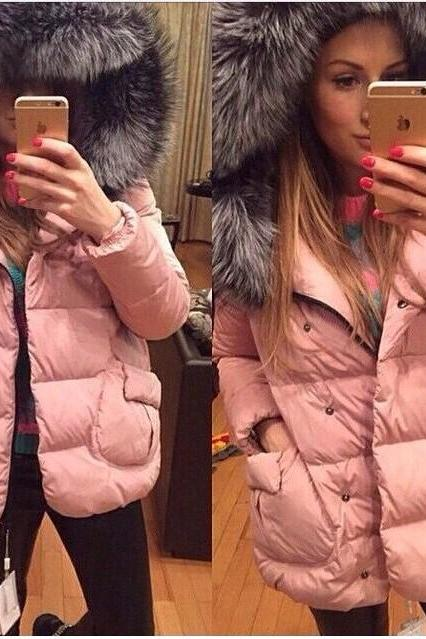 Faux Fur Hooded Winter Coat